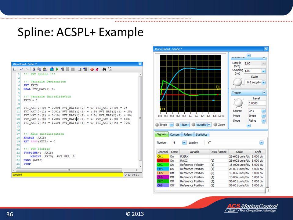 Spline: ACSPL+ Example