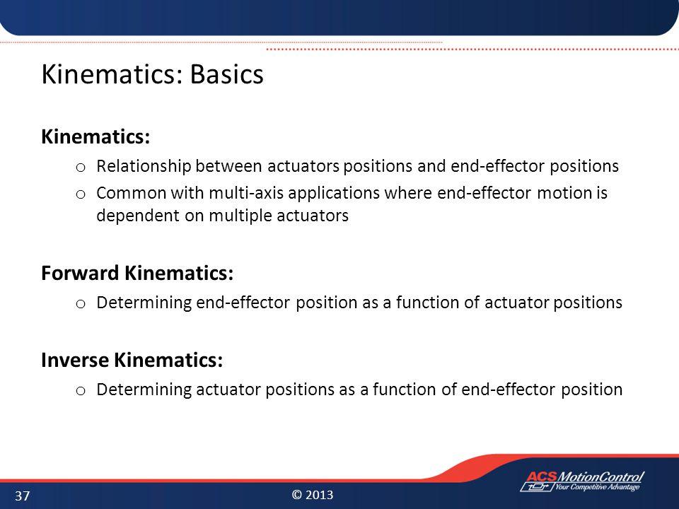 Kinematics: Basics Kinematics: Forward Kinematics: Inverse Kinematics: