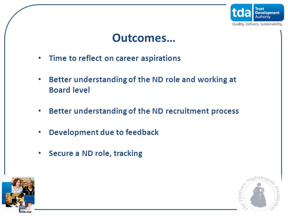 Outcomes… Time to reflect on career aspirations
