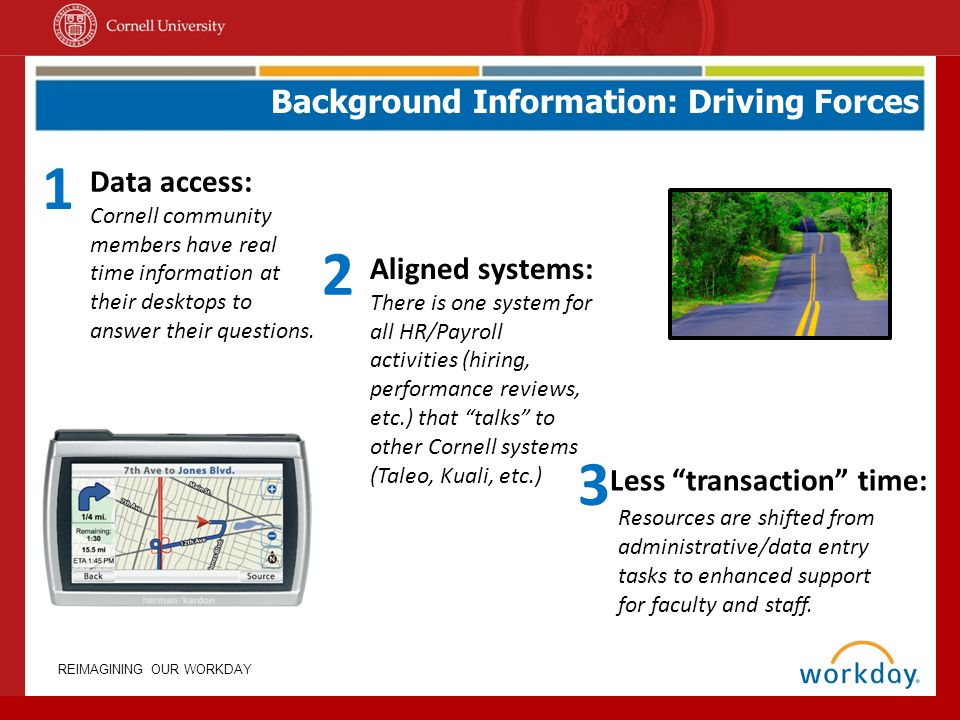 1 2 3 Background Information: Driving Forces Data access: