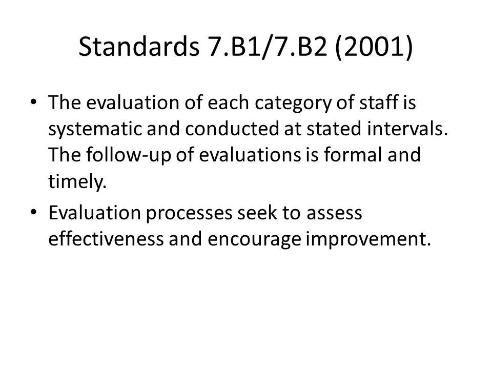Standards 7.B1/7.B2 (2001)