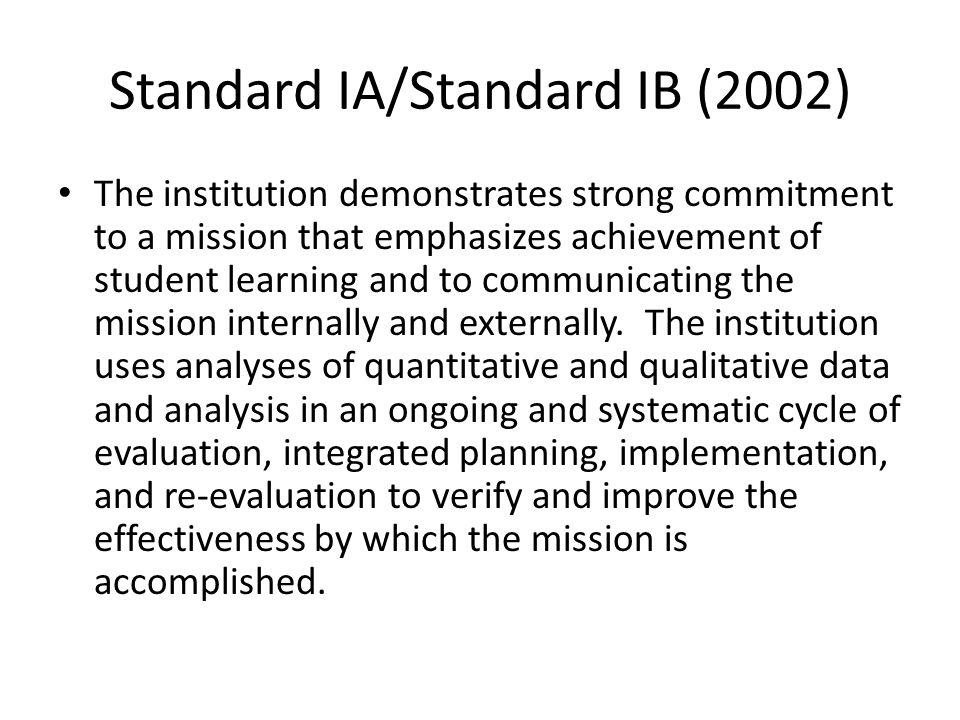 Standard IA/Standard IB (2002)