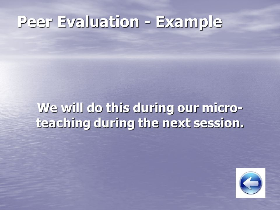 Peer Evaluation - Example
