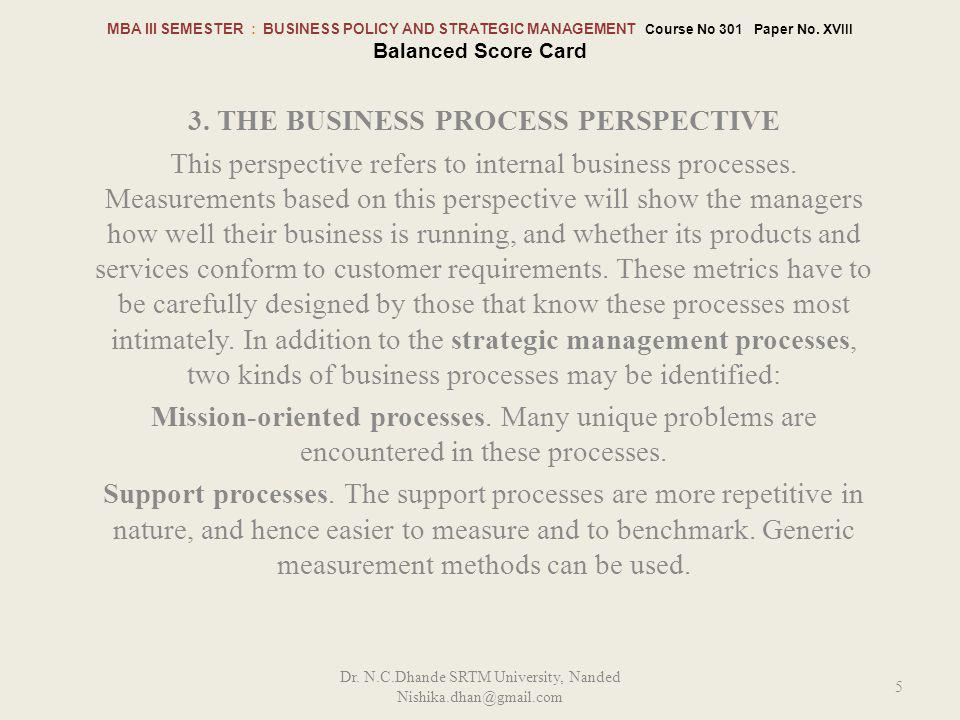 3. The Business Process perspective