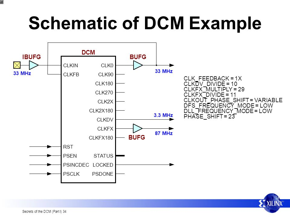 Schematic of DCM Example