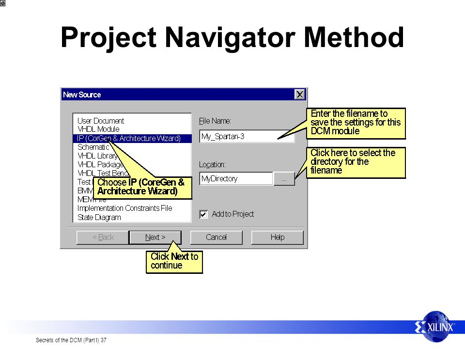 Project Navigator Method