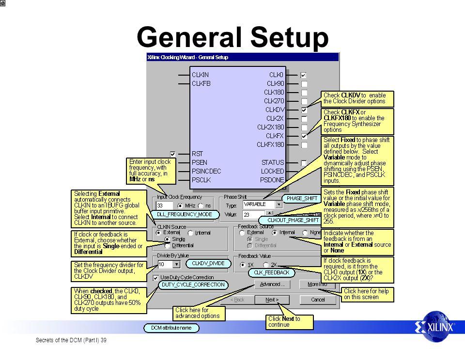 General Setup