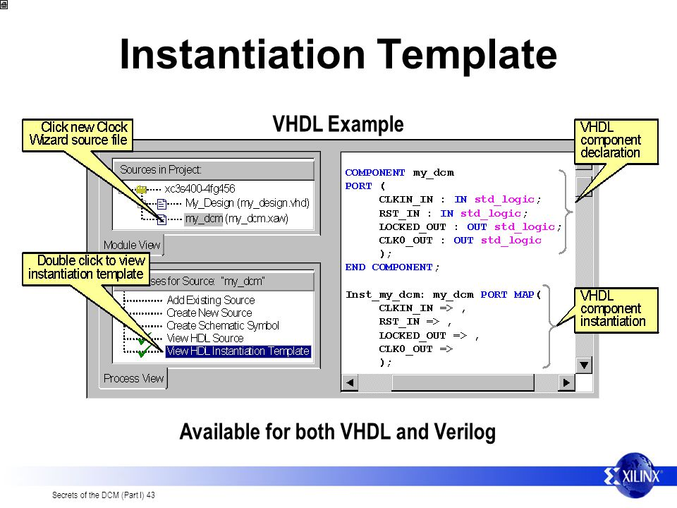 Instantiation Template