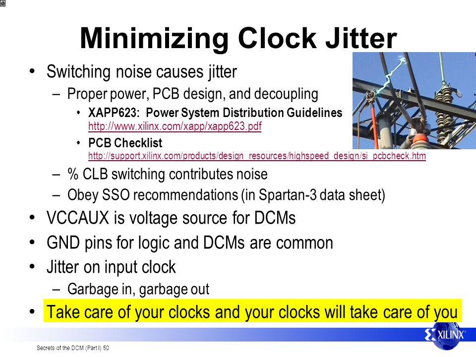 Minimizing Clock Jitter