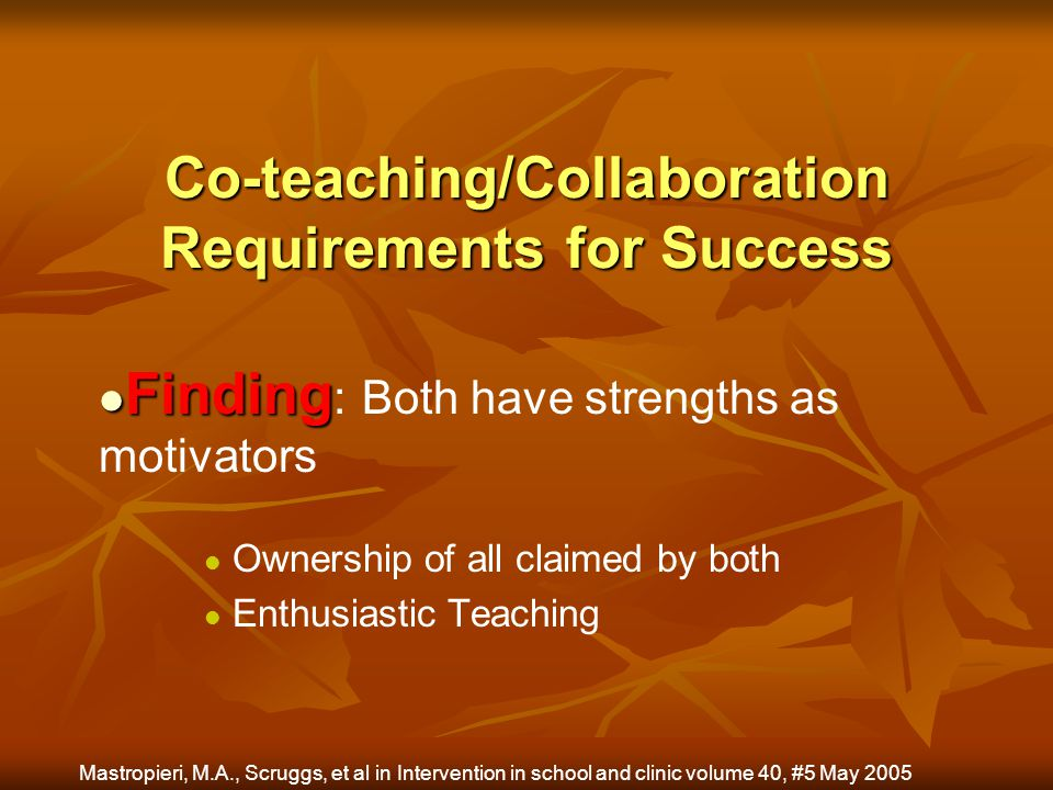 Co-teaching/Collaboration Requirements for Success