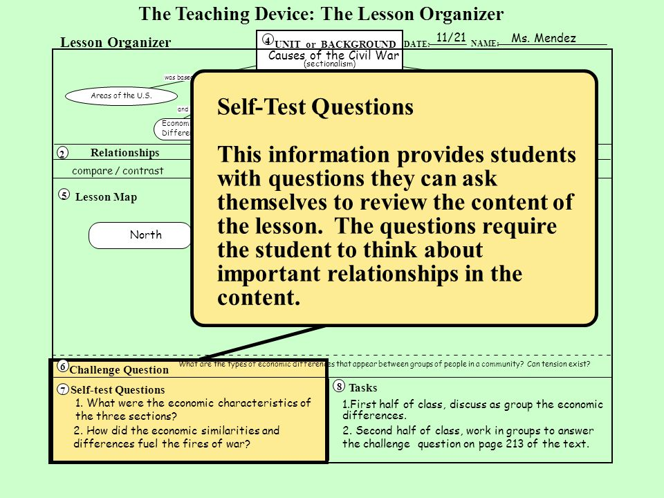 This information provides students with questions they can ask