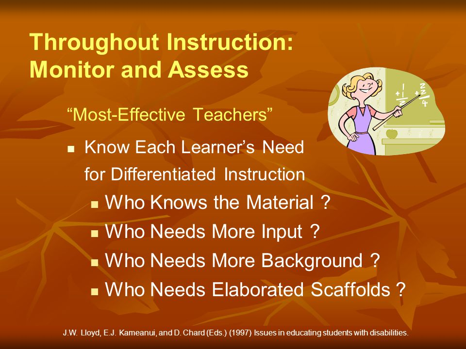 Throughout Instruction: Monitor and Assess