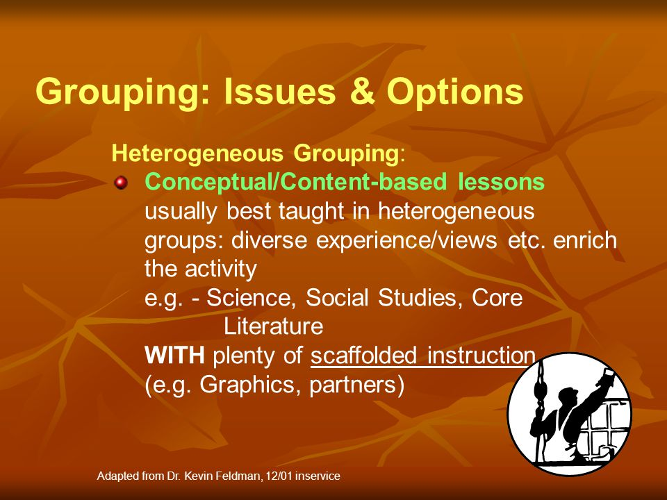 Grouping: Issues & Options