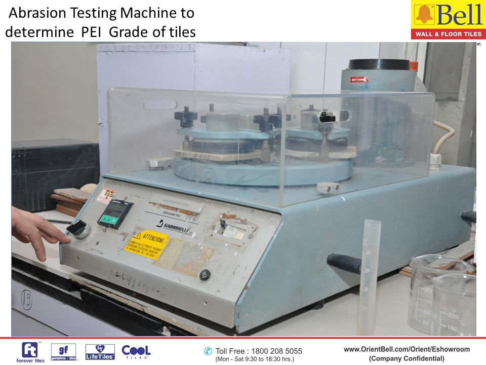 Abrasion Testing Machine to determine PEI Grade of tiles