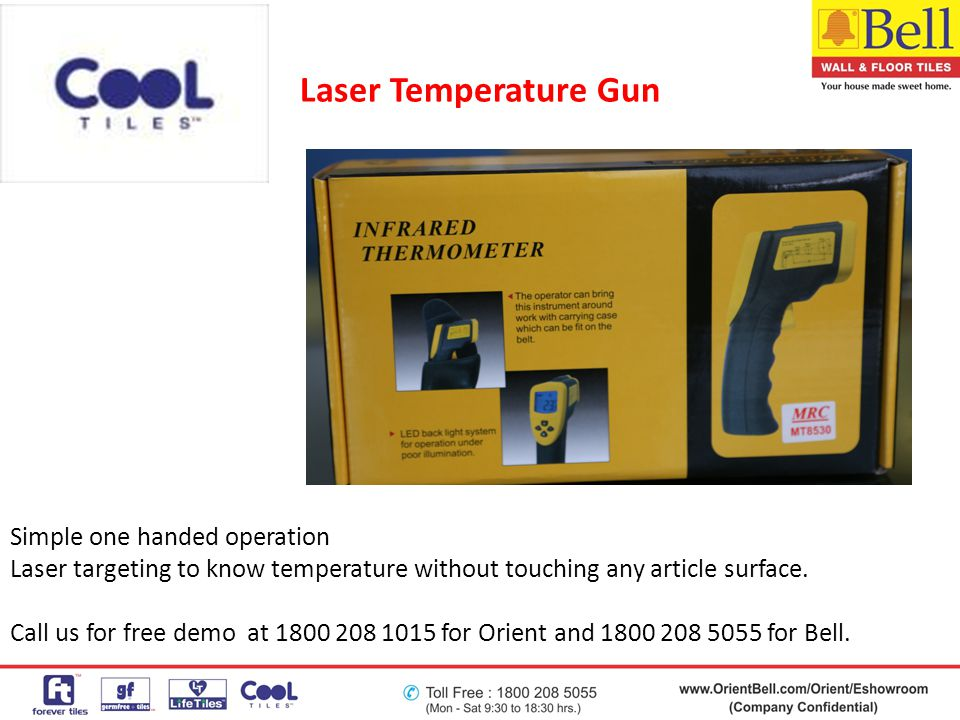 Laser Temperature Gun Simple one handed operation