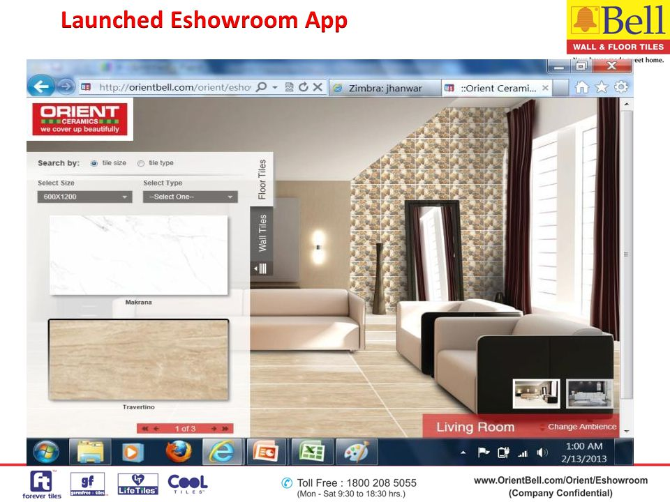 Launched Eshowroom App
