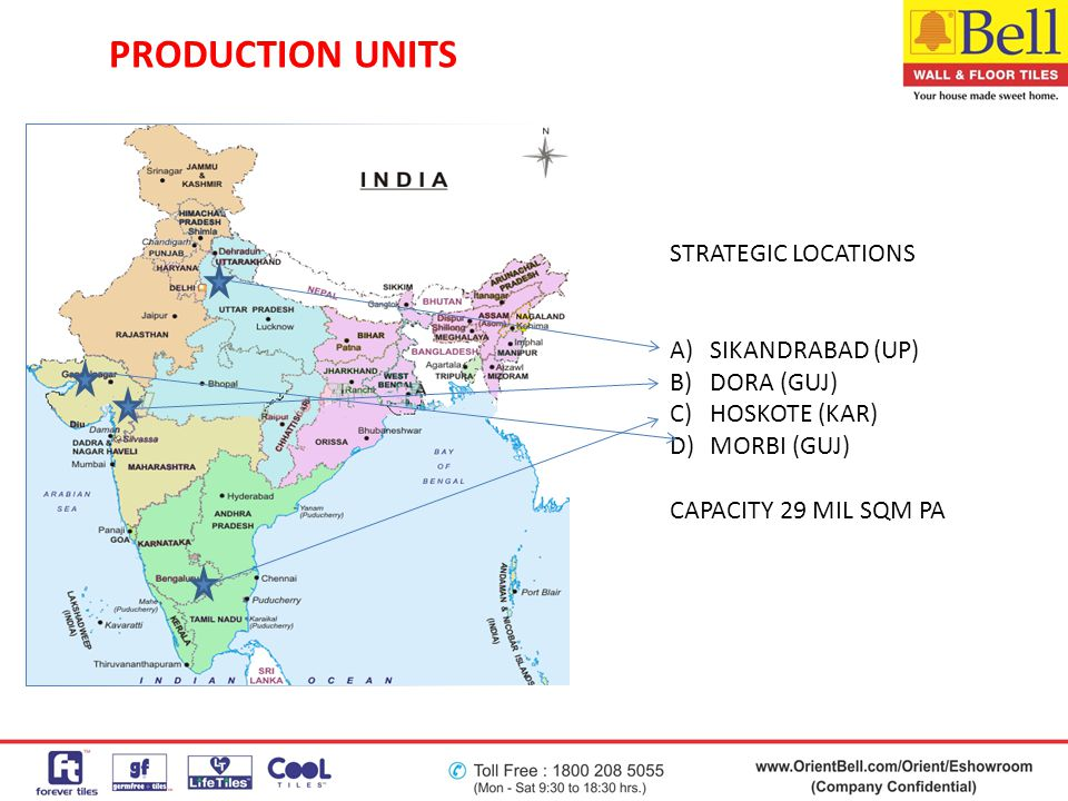 PRODUCTION UNITS STRATEGIC LOCATIONS SIKANDRABAD (UP) DORA (GUJ)