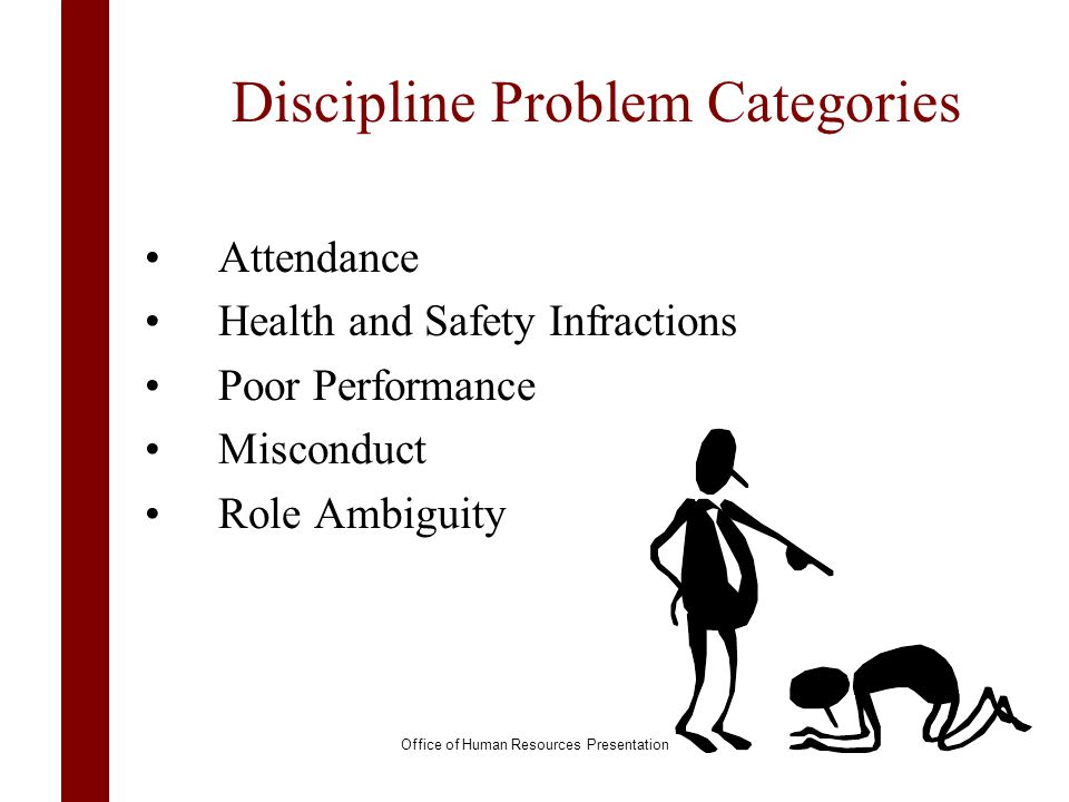 Discipline Problem Categories