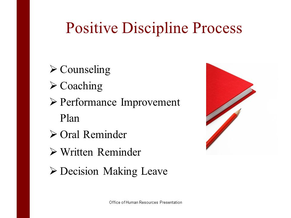 Positive Discipline Process