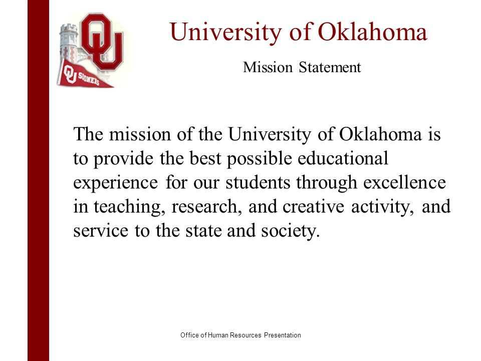 University of Oklahoma Mission Statement