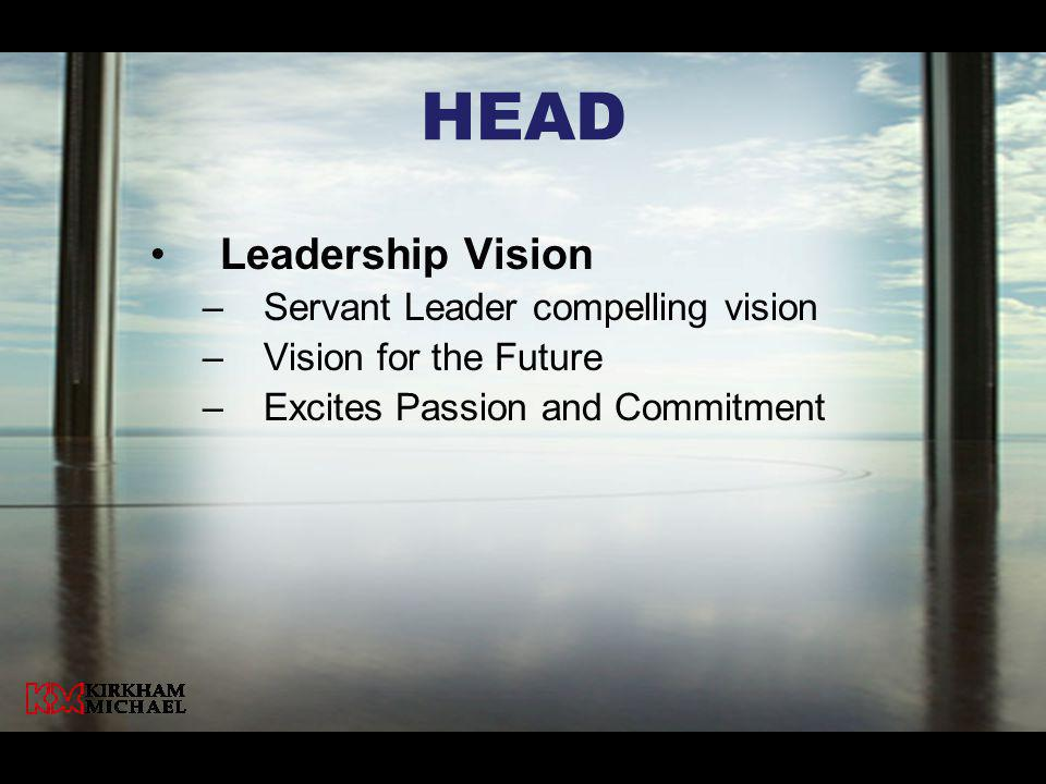 HeaD Leadership Vision Servant Leader compelling vision
