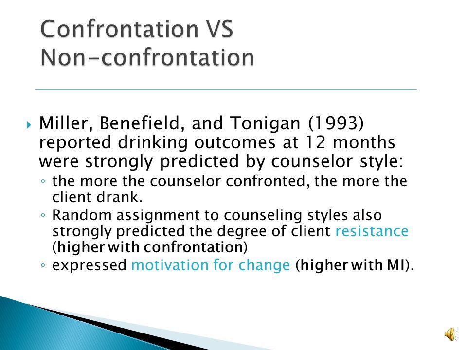 Confrontation VS Non-confrontation