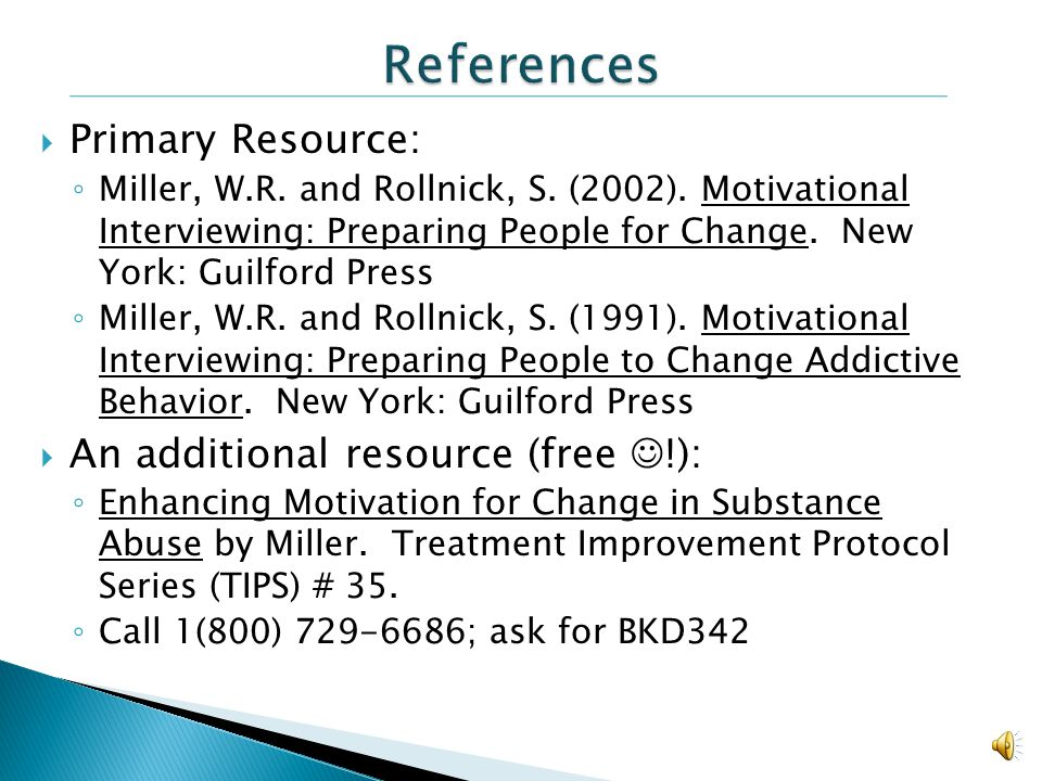 References Primary Resource: An additional resource (free !):