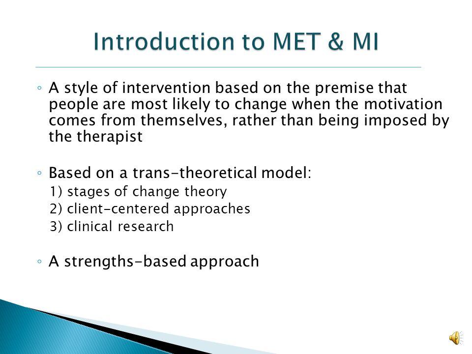 Introduction to MET & MI