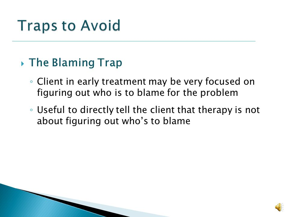 Traps to Avoid The Blaming Trap
