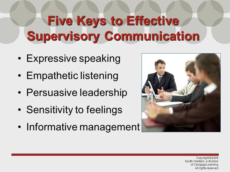Five Keys to Effective Supervisory Communication