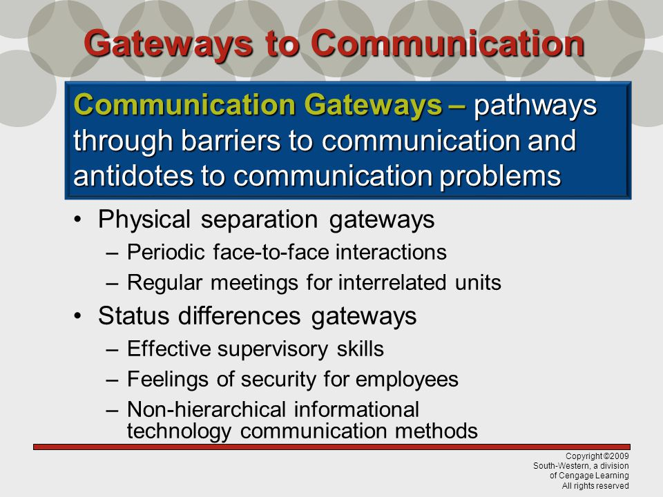 Gateways to Communication