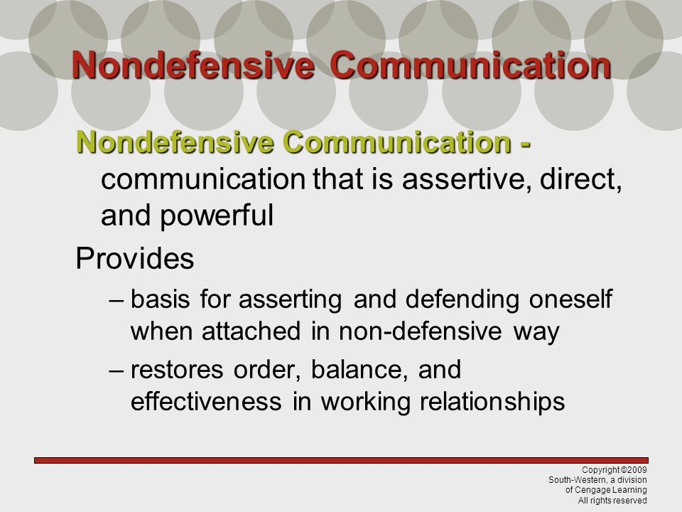 Nondefensive Communication