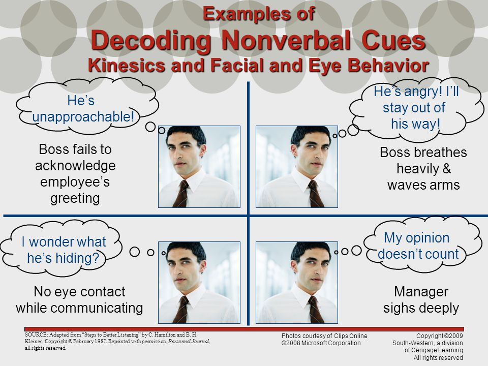 Facial and eye behavior