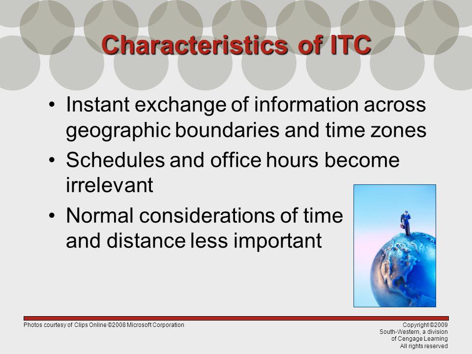 Characteristics of ITC