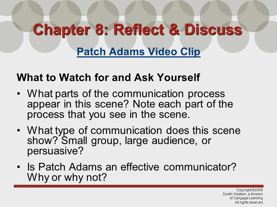 Chapter 8: Reflect & Discuss