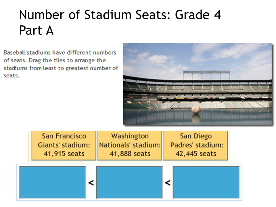 Number of Stadium Seats: Grade 4 Part A