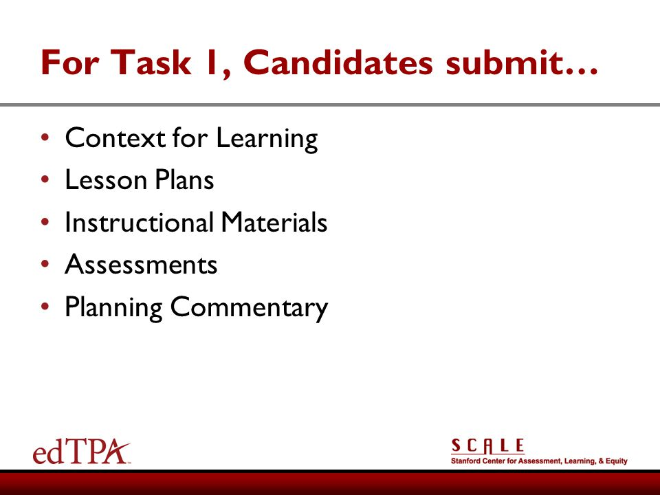 For Task 1, Candidates submit…