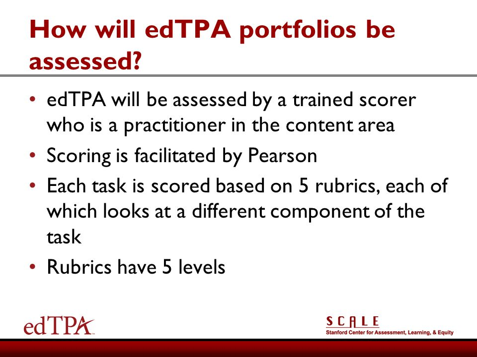 How will edTPA portfolios be assessed