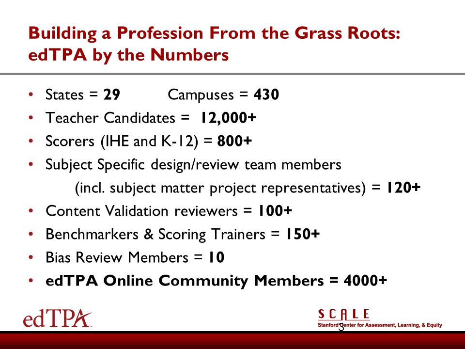 Building a Profession From the Grass Roots: edTPA by the Numbers