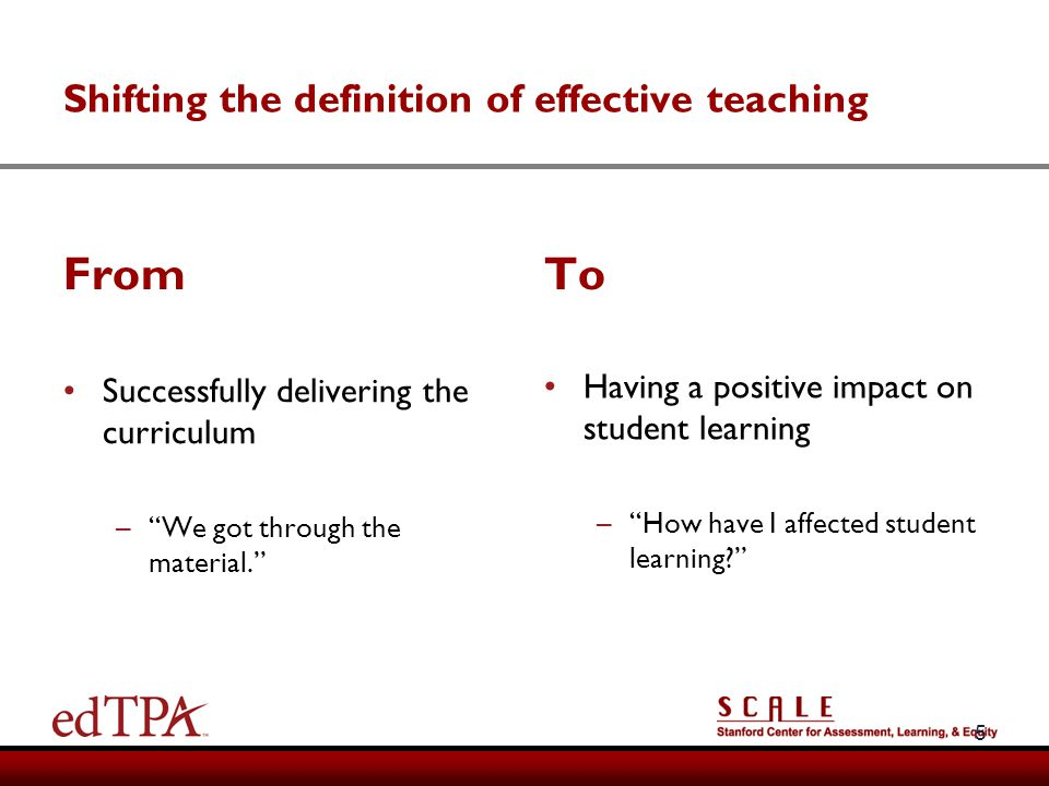 Shifting the definition of effective teaching