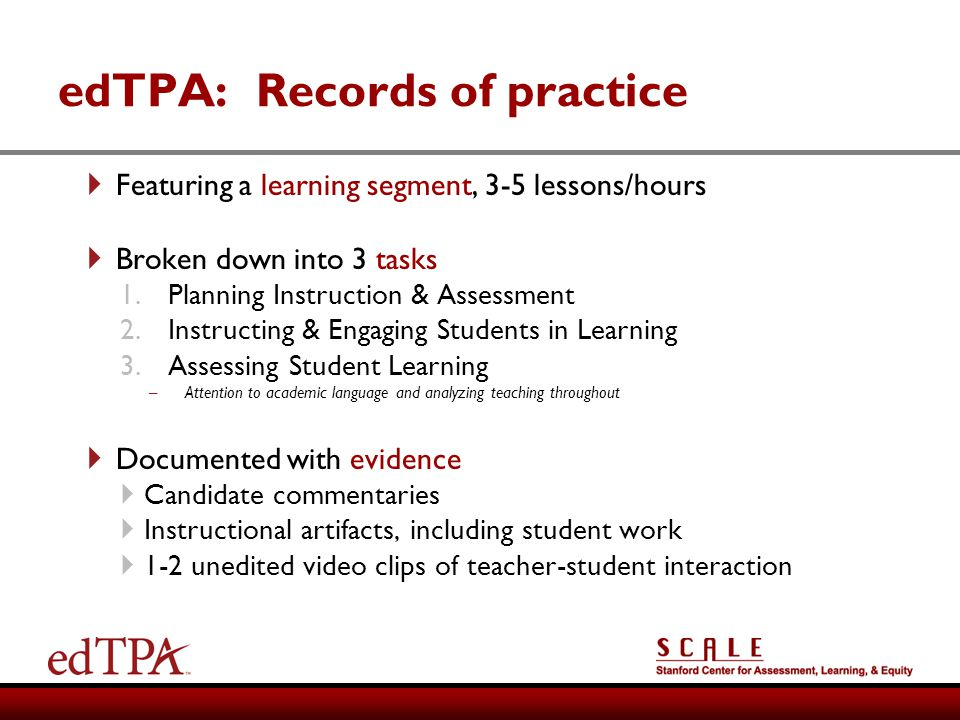 edTPA: Records of practice