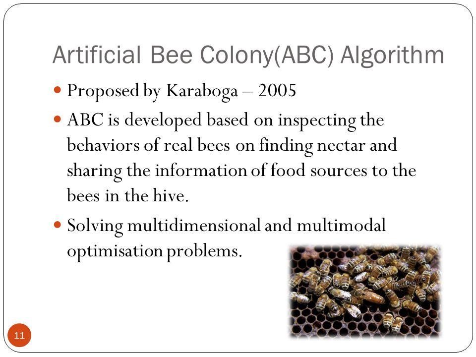 Artificial Bee Colony(ABC) Algorithm