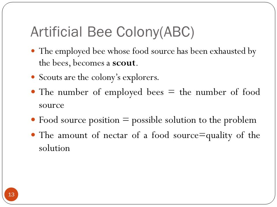 Artificial Bee Colony(ABC)