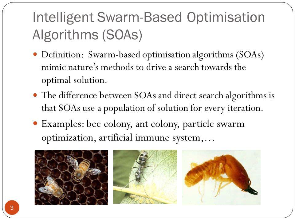 Intelligent Swarm-Based Optimisation Algorithms (SOAs)