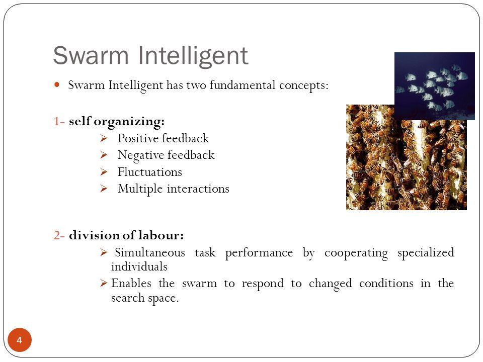 Swarm Intelligent Swarm Intelligent has two fundamental concepts: