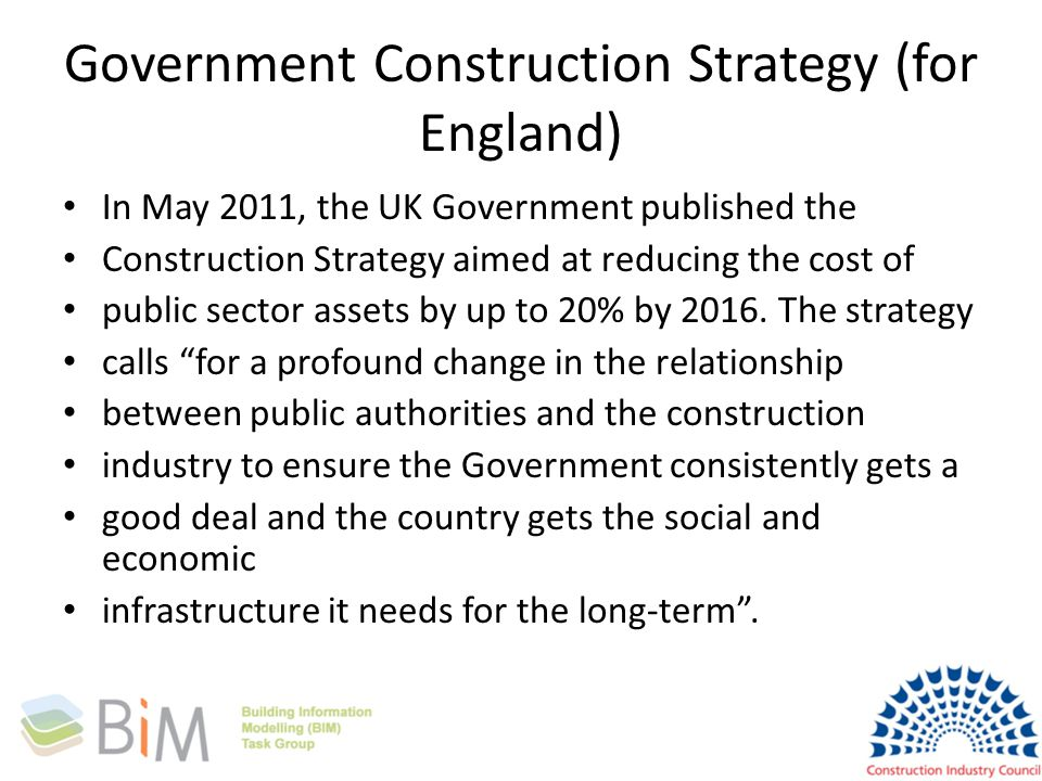 Government Construction Strategy (for England)