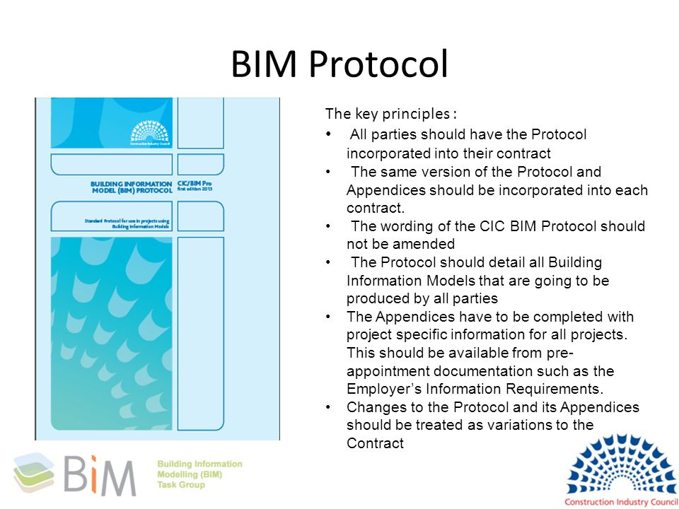 BIM Protocol The key principles :