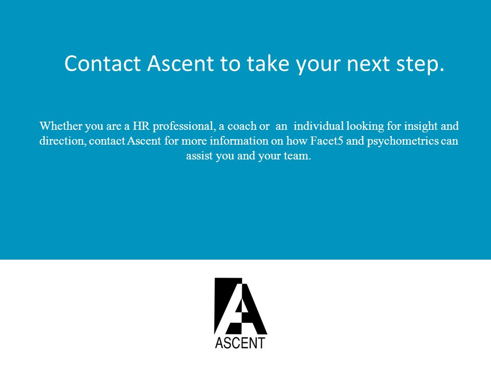Contact Ascent to take your next step.