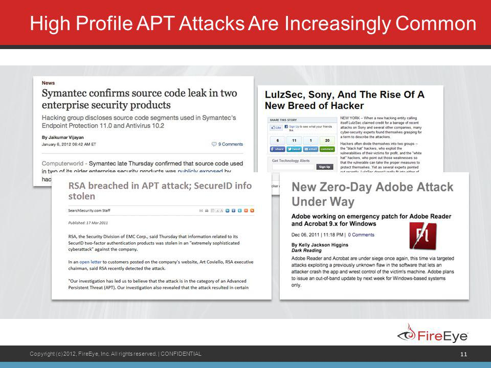 High Profile APT Attacks Are Increasingly Common