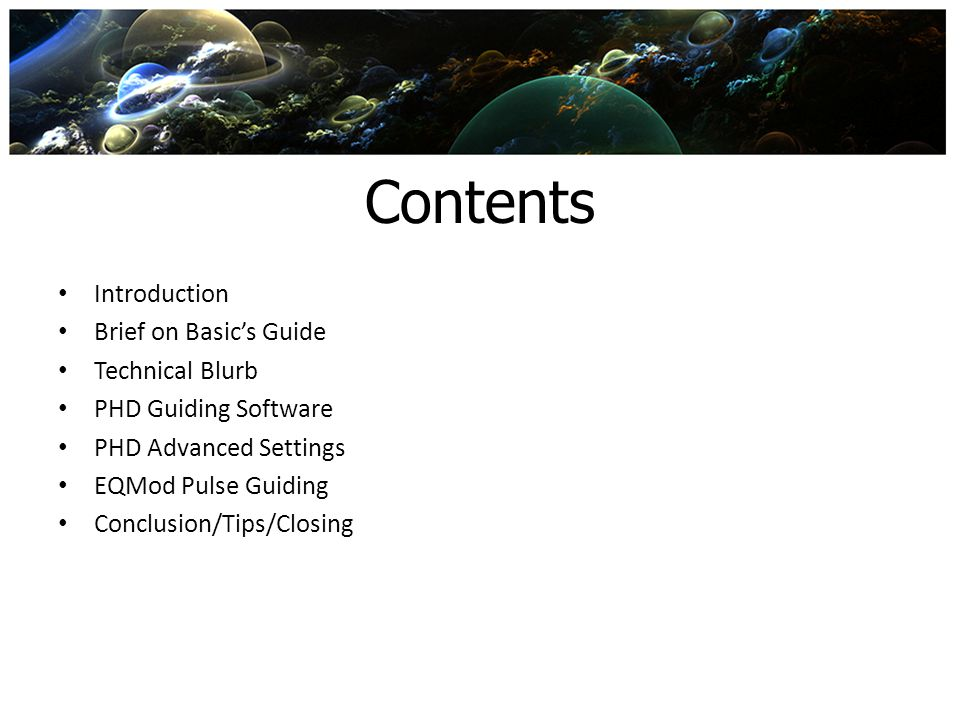 Contents Introduction Brief on Basic's Guide Technical Blurb